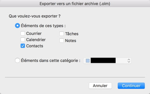 Export contact outlook 365 au format csv r solu - Office 365 comment ca marche ...