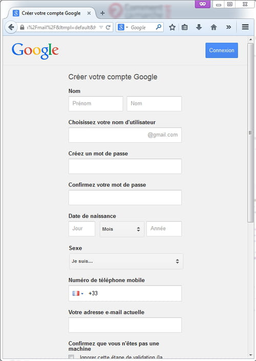 Creer Une Adresse Gmail