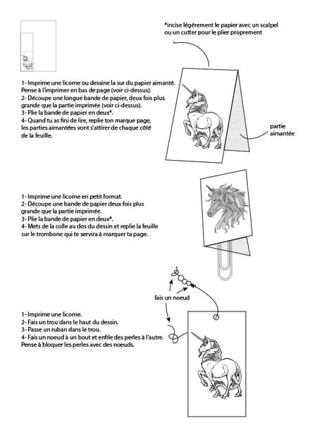 Marques Pages Licorne Résolu