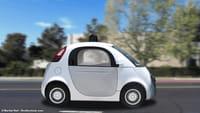 Sortie de route pour la Google Car