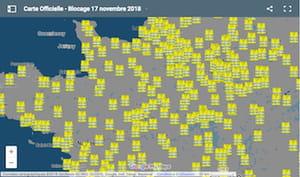 Mouvement des gilets jaunes : une carte pour voir les blocages