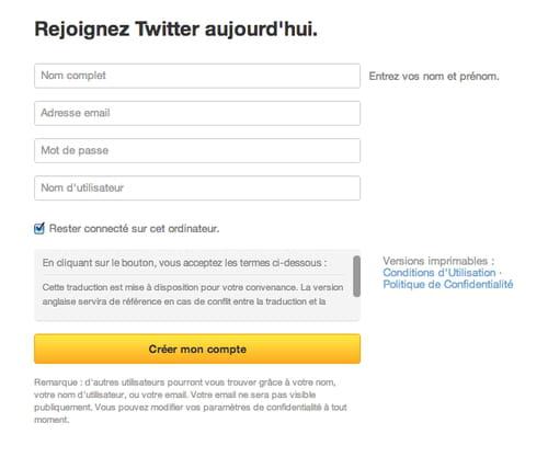 Créer Un Compte Twitter Inscription