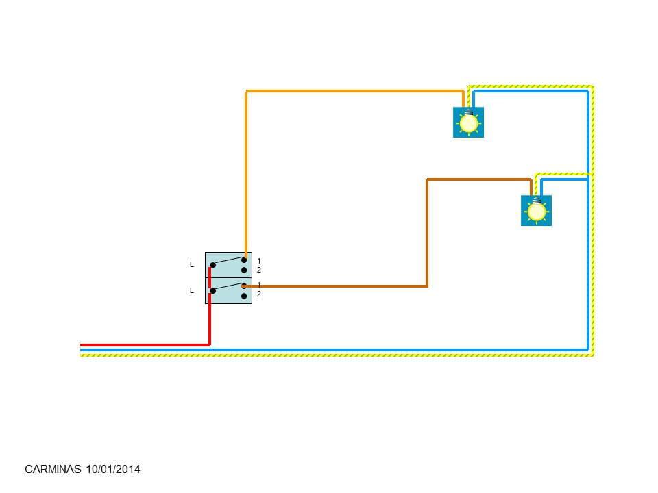 Comment brancher un double interrupteur r solu - Brancher un interrupteur sur une prise ...