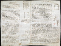 Découvrez les notes de Léonard de Vinci numérisées