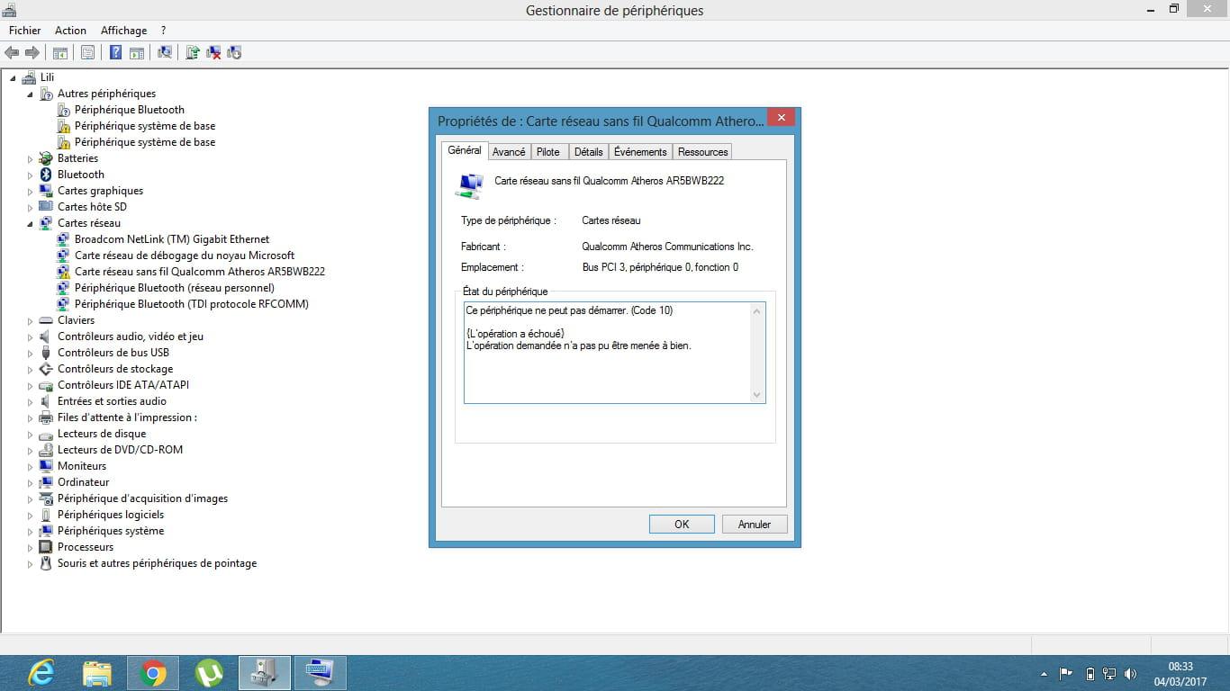 installer le wifi dans Windows 8