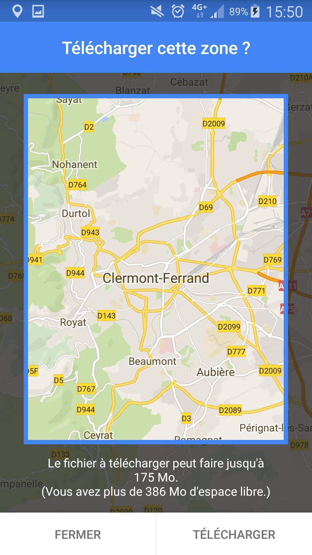 utiliser google maps hors ligne iphone Windows