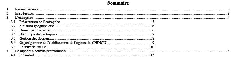 Word 2013 Table Des Matières Alignement Numéro De Page