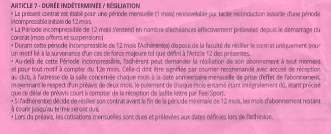 Contrat Salle De Sport Loi Chatel Droit Finances