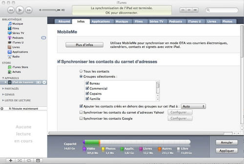iPad - Gérez vos contacts