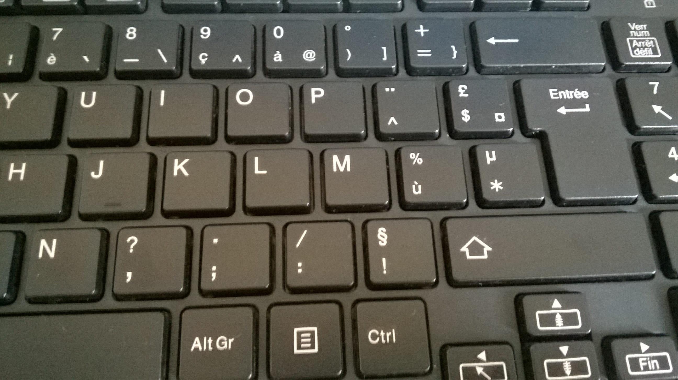 langue de mon clavier    r u00e9solu