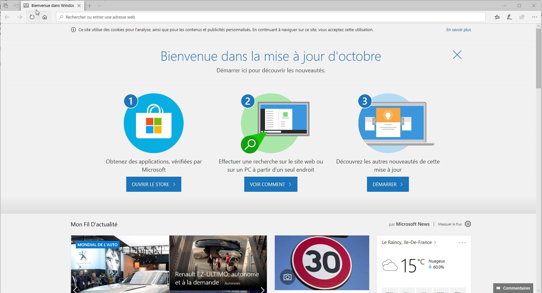 Windows 10 1809 Installer La Mise A Jour D Octobre 2018
