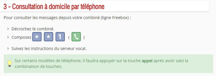 je n ai plus de messagerie vocale free
