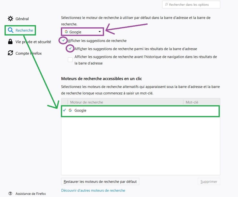 Supprimer Yahoo Le Moteur De Recherche Firefox