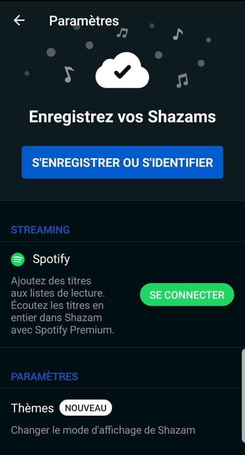 Sauvegarder ses découvertes Shazam dans une playlist Spotify Shazam_1