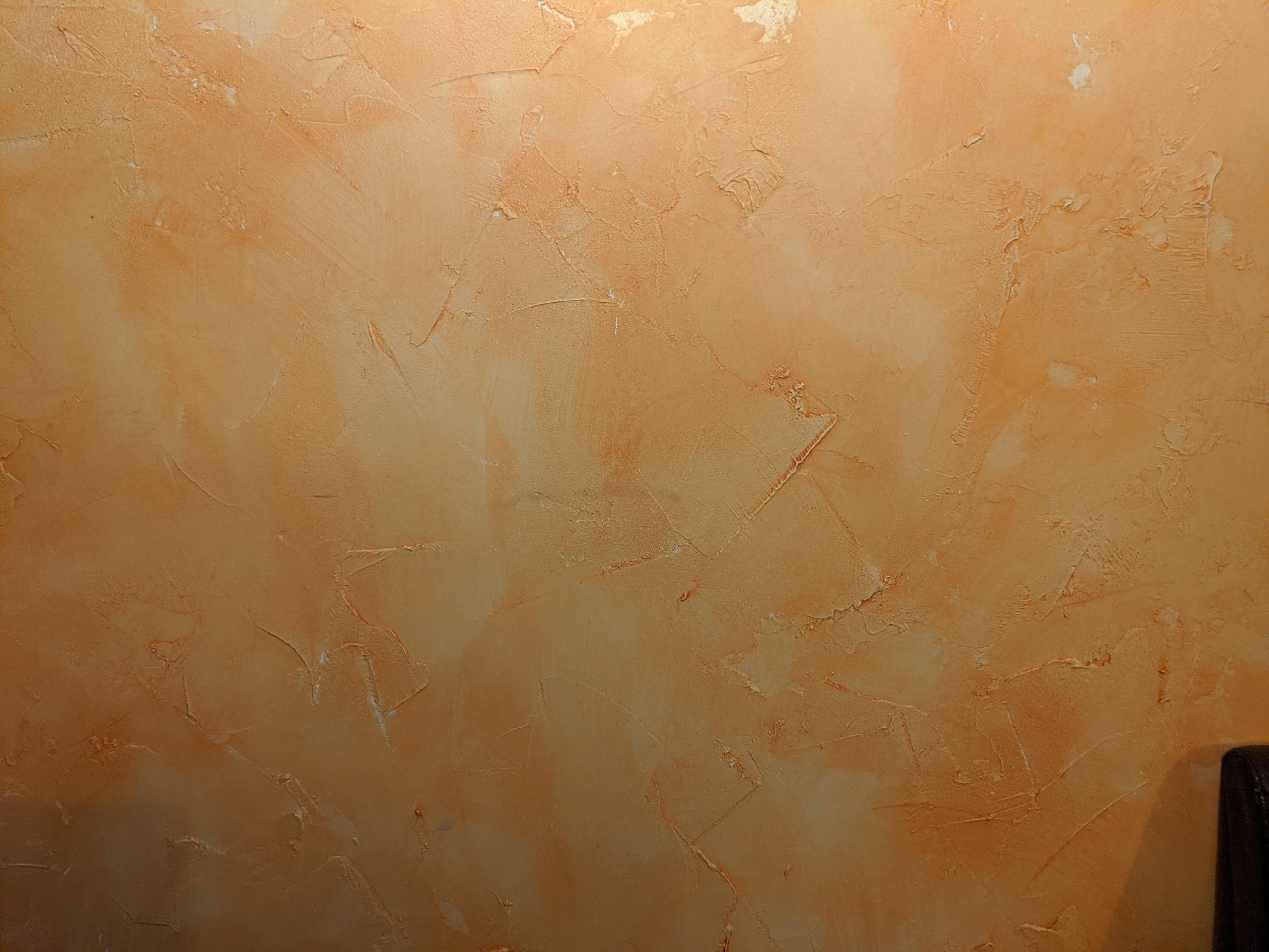 Peinture À L Éponge Sur Mur peinture murale sur ancienne peinture à l'huile