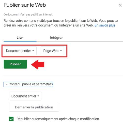 Partager des fichiers Google Docs, Sheets ou Slides sur le Web PRAT6