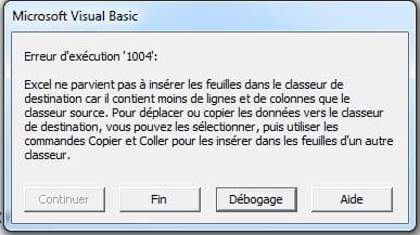 Erreur 1004 Copier Coller Resolu Excel