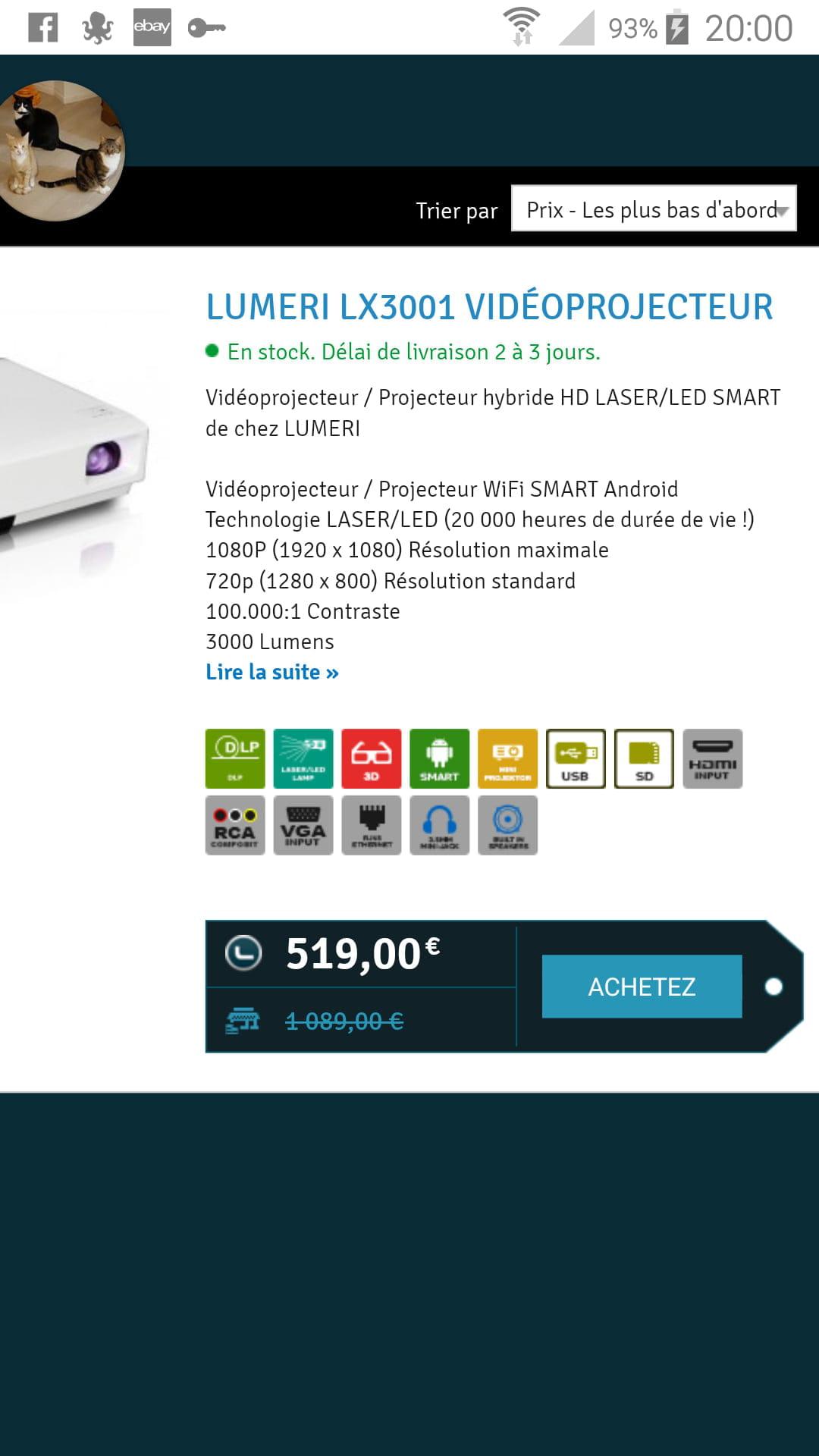 Comment Choisir Un Vidéoprojecteur conseils vidéo-projecteur lumeri lx 3001 - forum vidéo/tv