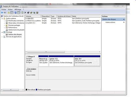 Disque D Vide Windows 7