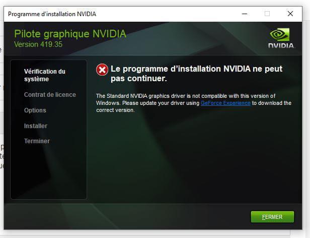 mettre a jour carte graphique nvidia Impossible de mettre à jour ma carte graphique Nvidia ! [Résolu