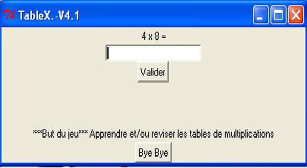 Python tablex ou revision des tables de multiplication codes sources - Revision des tables de multiplication ...
