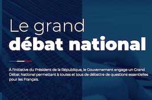 Le site gouvernemental du grand débat national est ouvert