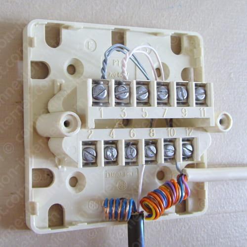 Comment faire branchement sur prise t l phonique 12 plots for Boitier exterieur france telecom