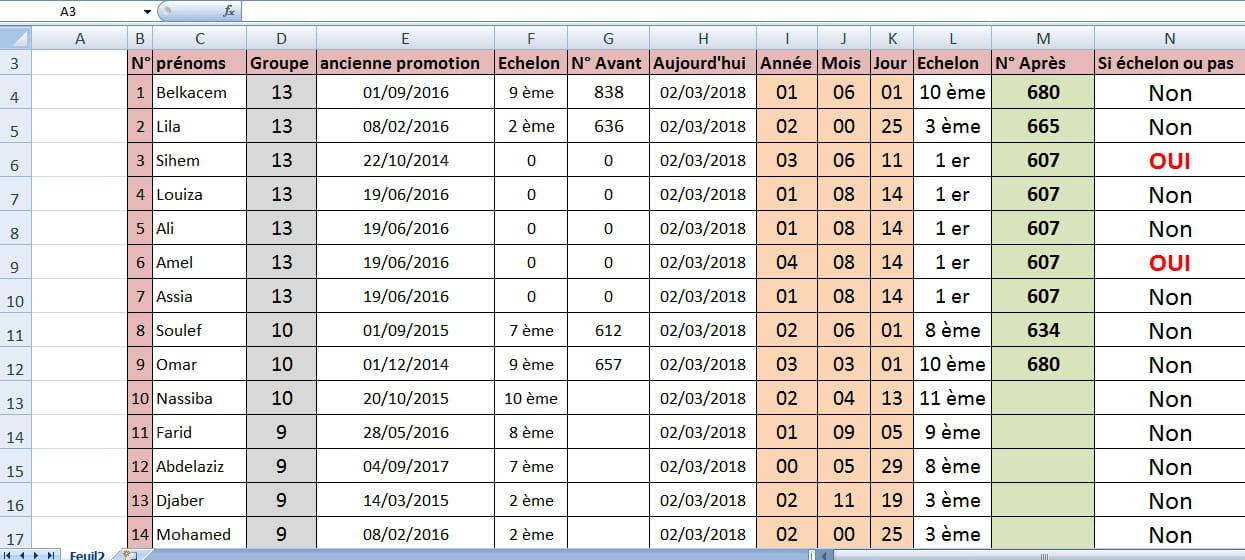 G rer deux tables la fois avec les formules forum excel for Table fois 6