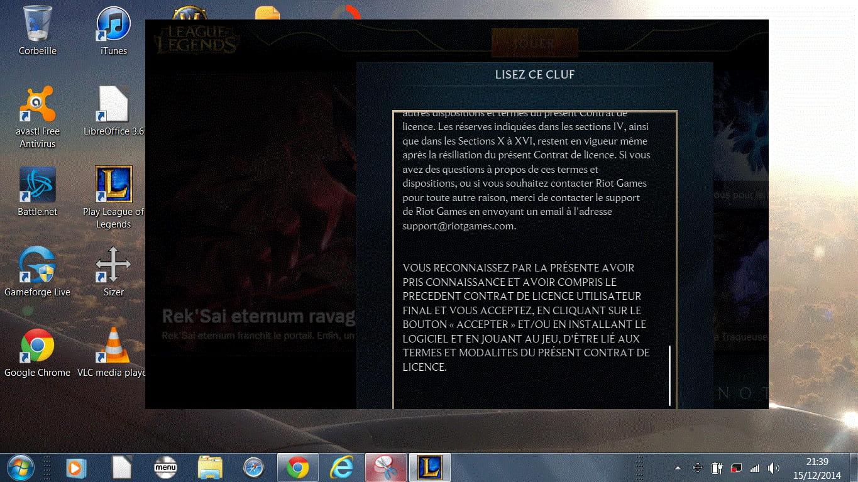 Probl me de taille d 39 cran sur league of legends forum for Ecran pc taille
