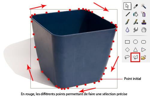Photomontage d tourer correctement un l ment avec - Couper une photo sur paint ...