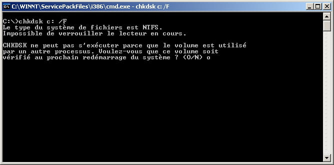 Checkdisk chkdsk sous windows 10 8 7 for Ouvrir une fenetre ms dos
