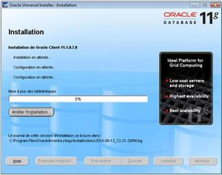 Problème d'installation : Oracle Universal Installer s