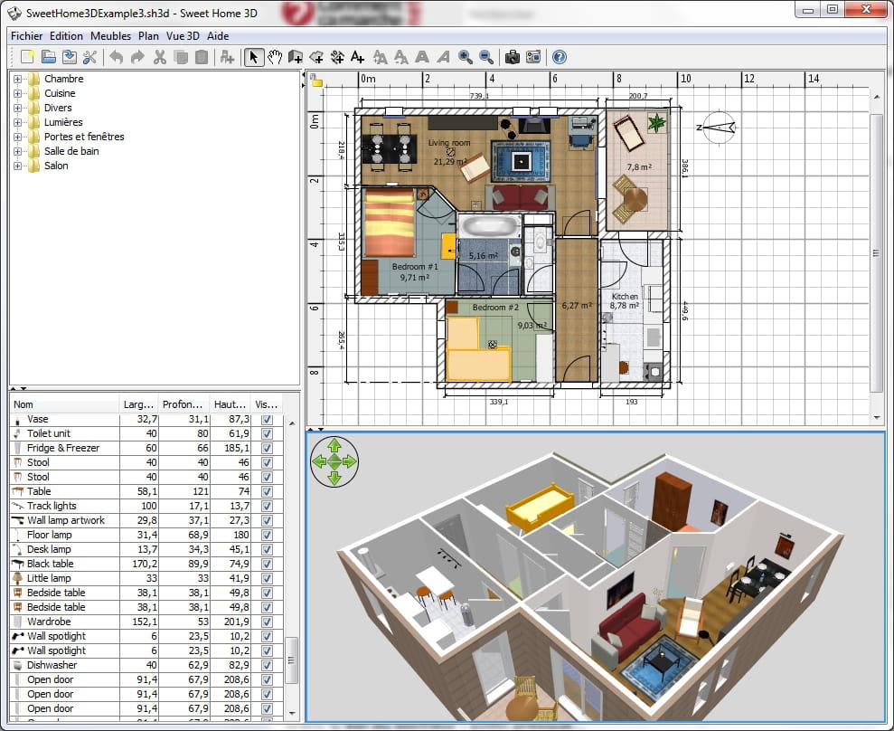 Préférence Télécharger Sweet Home 3D (gratuit) TU37