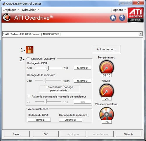 Overclocking simple : Carte graphique AMD/ATI