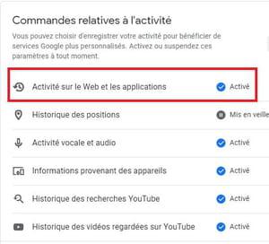 Effacer automatiquement le suivi d'activité de votre compte Google 02