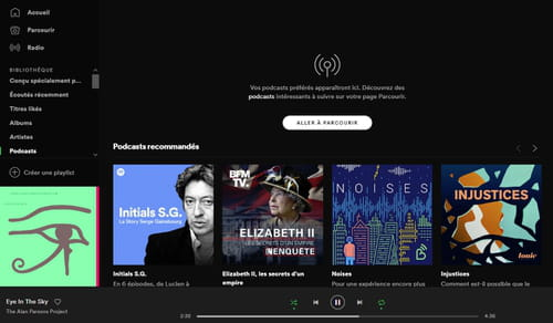 Écouter des podcasts sur Spotify Bibliotheque_-_podcasts