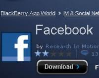 Facebook Places disponible sur BlackBerry