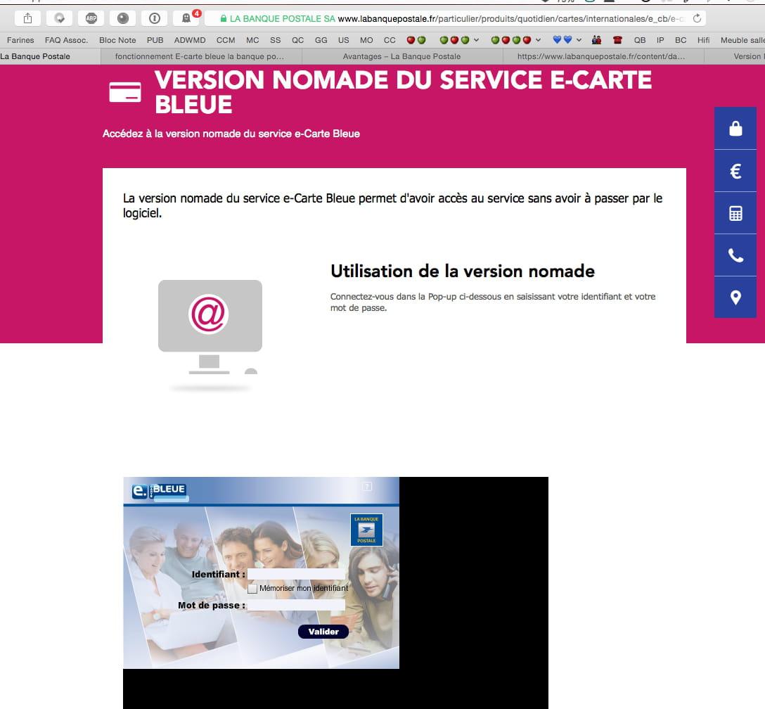 service e carte bleue banque postale SOS   E carte bleue la banque postale logiciel pour Mac [Résolu
