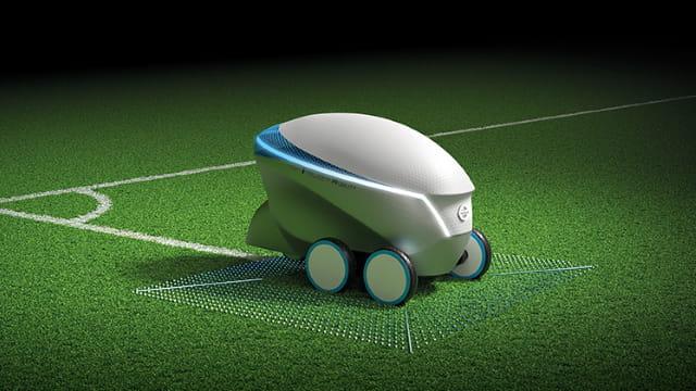 Ce robot crée des terrains de foot