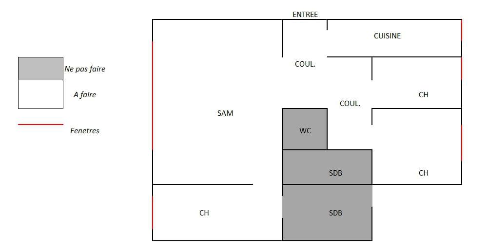 pose lame pvc clipsables sans barre de seuil. Black Bedroom Furniture Sets. Home Design Ideas