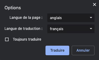 Gérer les options et les notifications de traduction de Google Chrome GOOGLE-TRAD-7