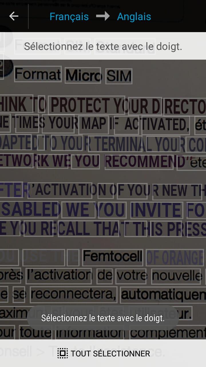 Vous Pouvez Desormais Selectionner Un Mot Et Afficher Sa Traduction