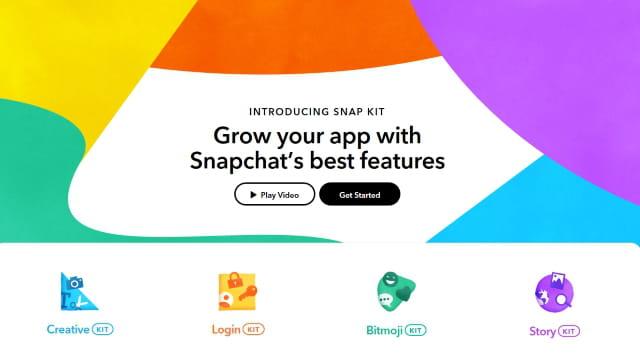 Les applis tierces arrivent sur Snapchat