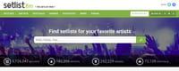 Setlist.fm, le site qui regroupe toutes les setlists de concerts
