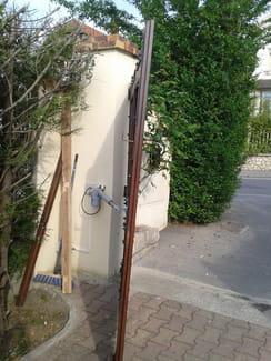 kit 2 v rins diagral de chez adyx avec un portail bois r solu. Black Bedroom Furniture Sets. Home Design Ideas