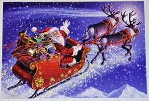 Rechercher Des Images De Noël Père Noël Traîneaux Sapin