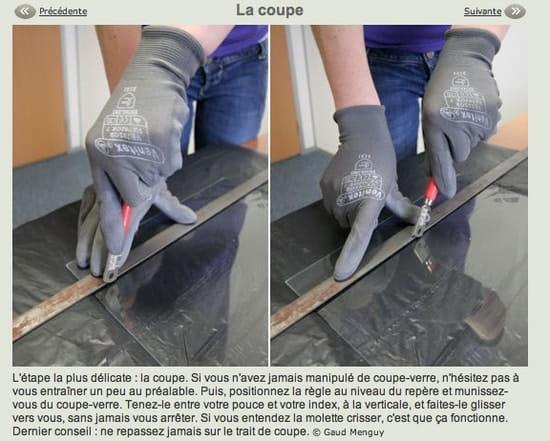 Comment couper du verre avec un diamant r solu - Comment couper du verre feuillete ...