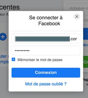 Facebook me connecter à Facebook