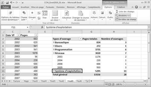 tableau croisé dynamique  Excel - Tableaux croisés dynamiques