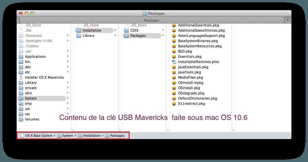Créer une clé USB d'installation pour OS X 10 9 alias Mavericks